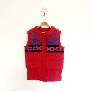Free People Fair Isle Sweater Vest